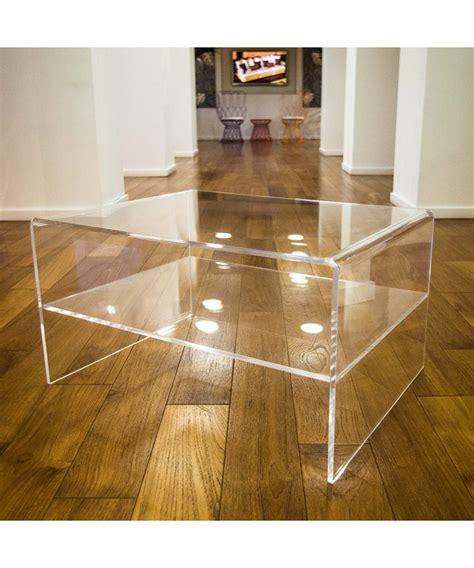 tavolini per divano tavolino con ripiano 70x40h40 per divani in plexiglass