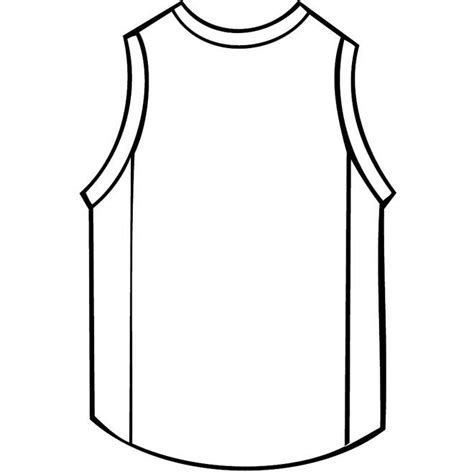 Basketball Shirt Outline Free Vector Free Vectors Pinterest Basketball Basketball Jersey Basketball Jersey Template