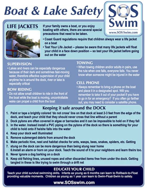 boat safety lessons sos swim school boat lake safety