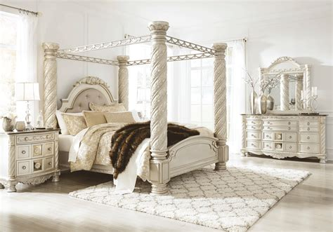 canopy bedroom furniture sets cassimore king canopy bedroom set louisville overstock