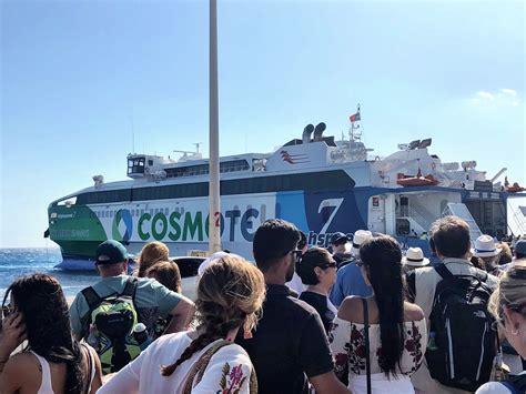 ferry boat from mykonos to santorini 4 days in santorini greece married with wanderlust