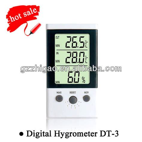 Digital Thermometer Model 303c Thermo Hygrometer 3 Parameter digital hygrometer dt 3 view hygrometer elitech product