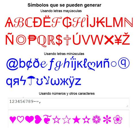 imagenes formadas por letras y simbolos convertir texto y frases en simbolos caracteres signos