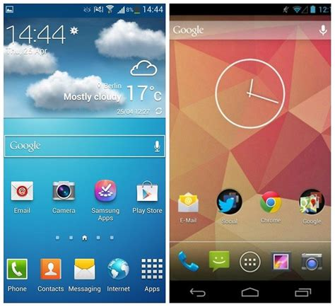 samsung s touchwiz nature ux 2 0 vs stock android 4 2