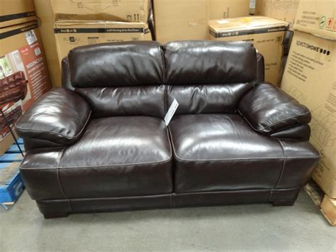 costco brown leather couch costco leather reclining sofa