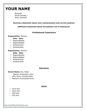 Resume With Border Template Resume Template With Border