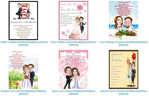 Caricature Wedding Invitations Something Unique