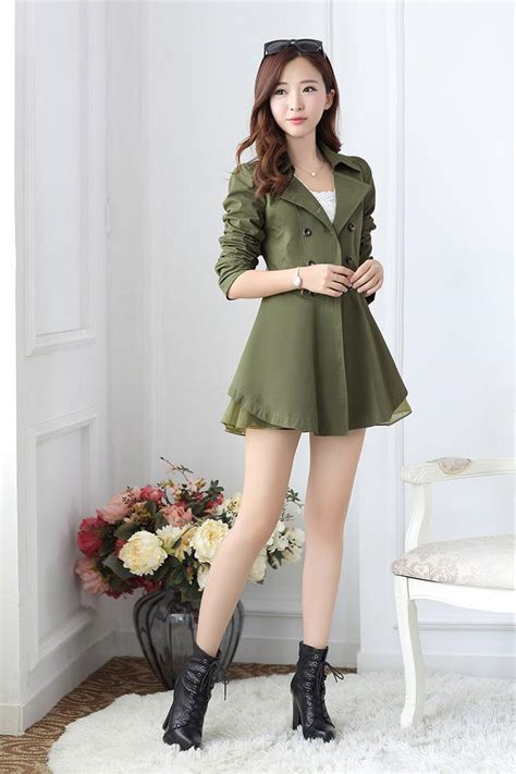Blazer Wanita Korea blazer wanita korea armygreen korean blazer