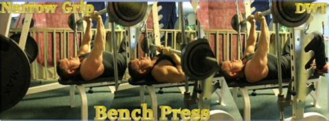 narrow grip bench presses free weight training exercises