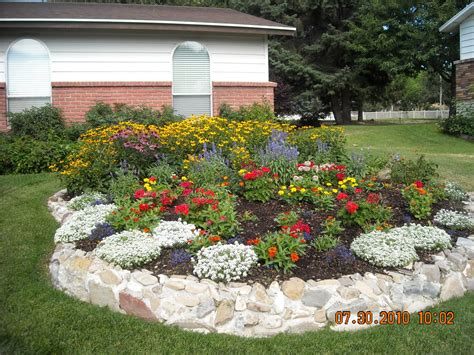 backyard flower bed ideas flower beds this is how the flower bed looks after