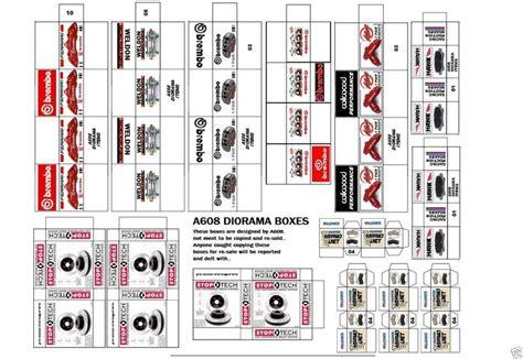 Printable Diorama Accessories | 1 18 diorama brakes box set 23 for shop garage accessories