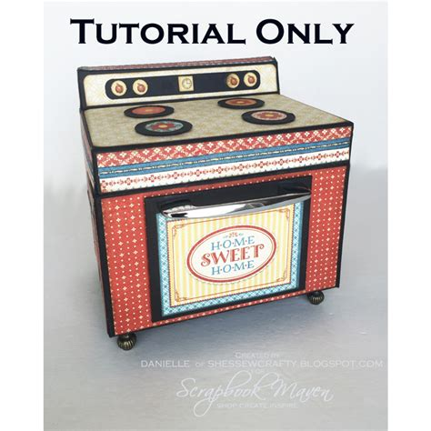 scrapbook maven tutorial oven recipe box tutorial only scrapbook maven