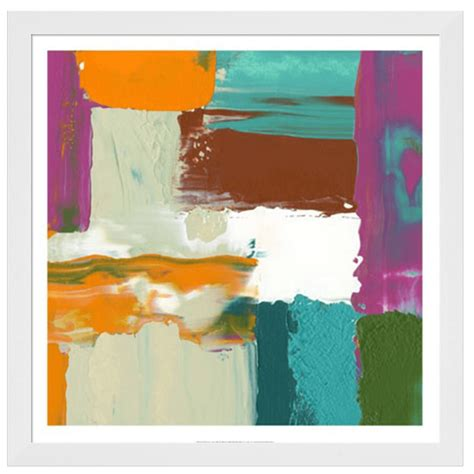 framed abstract neon city iii abstract framed print by goldberger