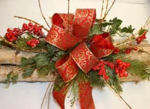 log christmas centerpieces designer made decorative