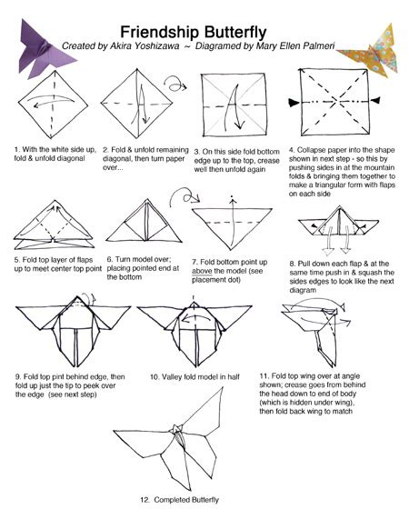 Origami Butterfly Pdf - august 2016 monthly feature origami page friendship