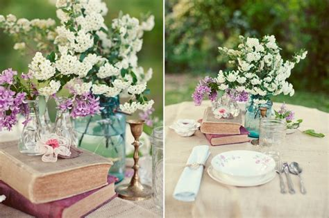 Tall Tin Vase Book Centerpieces For Vintage Weddings Budget Brides
