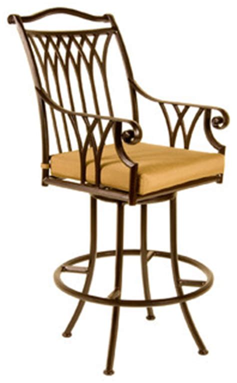 montrachet swivel bar stool with arms eclectic outdoor