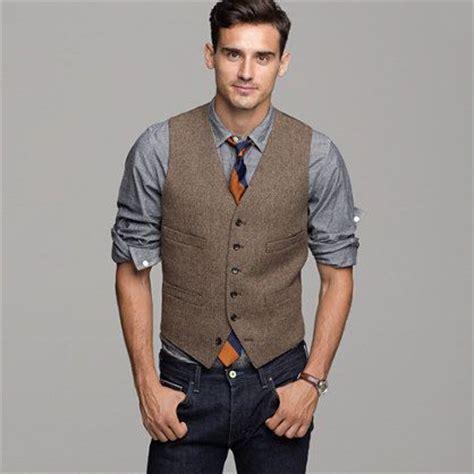 Style Ideas How To Wear Menswear Herringbone Second City Style Fashion by J Crew Harvest Herringbone Vest Grey Chambray Utility