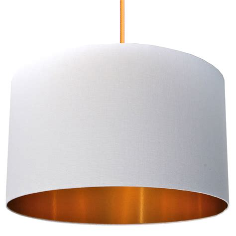 Drum Ceiling Shades by Crisp White Cotton Lampshade With Gold Lining By Love
