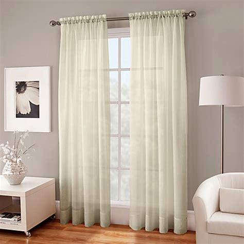 sheer curtains 108 buy crushed voile sheer 108 inch window curtain panel in