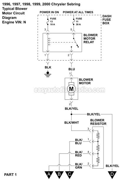 blower motor wiring diagram 1996 2000 2 5l v6 sebring and