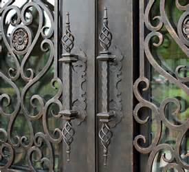 Wrought Iron Exterior Door Hardware Entry Door Hardware Deadbolts And Pull Handles Abby Iron Doors