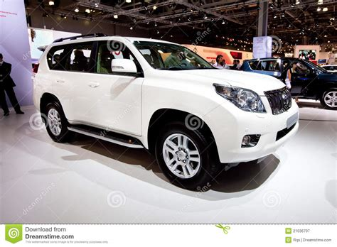 jeep car white white jeep car tayota land cruise prado editorial
