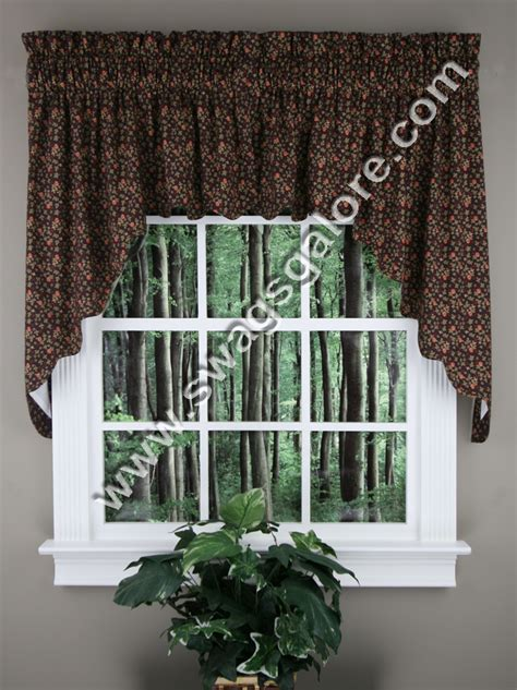 kitchen swag curtains valance blue