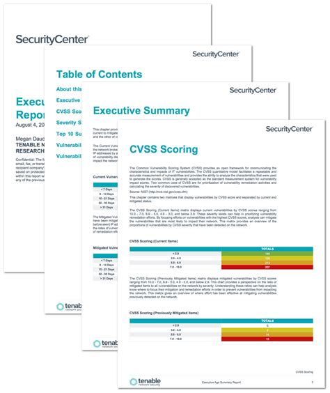 network security report template executive age summary report sc report template tenable