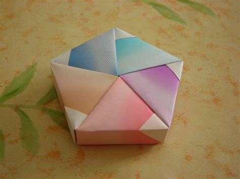 origami box pentagon wedding