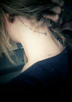 tattoo on my neck lyrics 25 back of the neck tiny tattoos to inspire your next ink