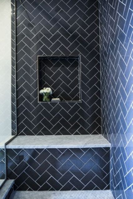 navy bathroom tiles 41 cool and eye catchy bathroom shower tile ideas digsdigs