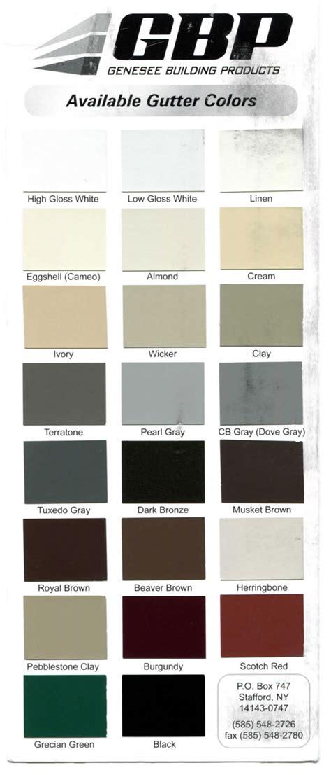gutter colors gutter color options rochester s gutter repair gutter