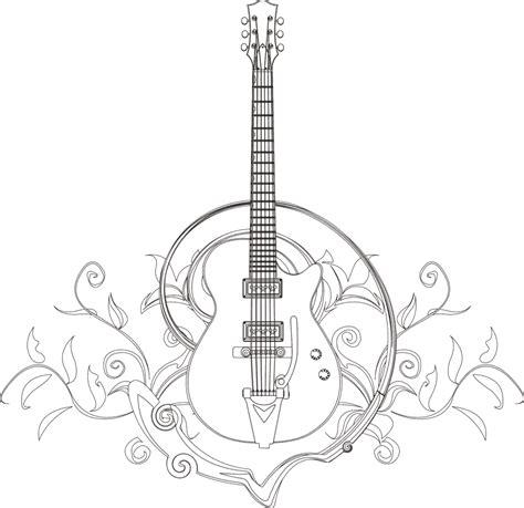 guitar coloring page guitar coloring page i blanco designs zentangles