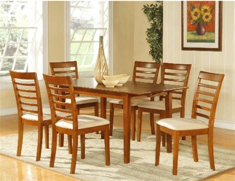8 pc hamlyn rectangular double pedestal table dining room 7pc dining room dinette set table and 6 chairs brown