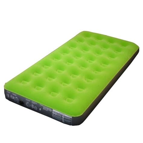 embark flocked twin airbed green airbed  pump