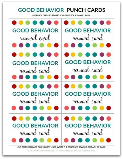 Get Rewarded For Healthy Behavior by 25 Best Ideas About Behavior Punch Cards On