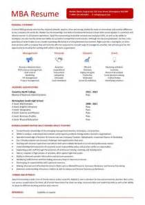 Mba Resume Templates by Student Entry Level Mba Resume Template