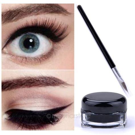 New Waterproof Eyeliner Birthday Eye Liner 2017 new black waterproof eye liner eyeliner gel makeup cosmetic brush makeup in eyeliner from