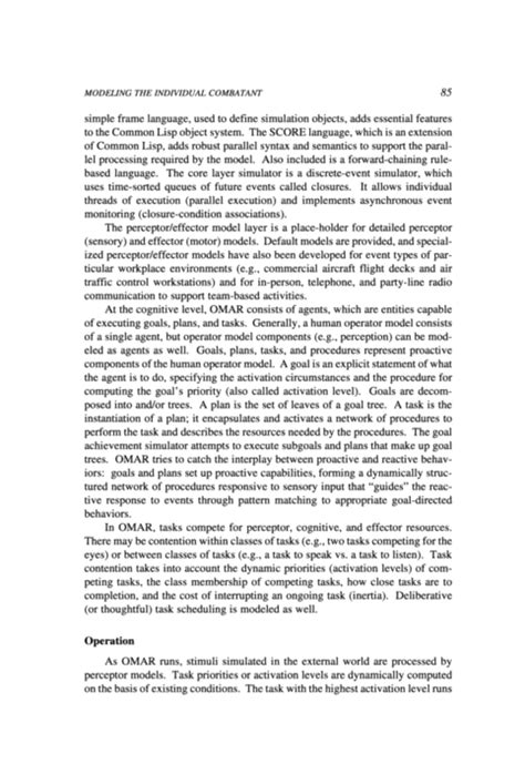 Discretion In Enforcement Essay by 3 Integrative Architectures For Modeling The Individual Combatant Modeling Human And
