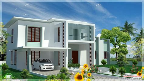 flat roof house plans design 4 bedroom modern flat roof house kerala home design and floor plans