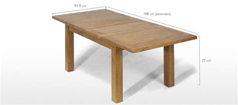 Dining Table Dimensions Cm Rustic Oak 132 198 Cm Extending Dining Table And 4 Chairs