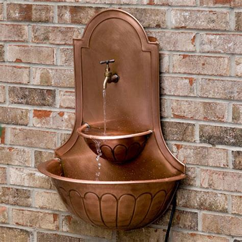 water fountain sink double sink copper wall fountain with faucet outdoor