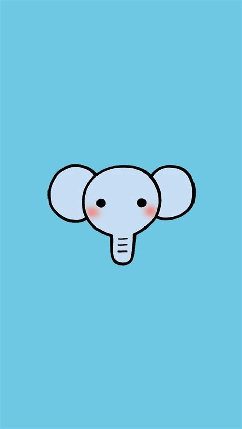 iphone  wallpaper cartoon animal elephant iphone