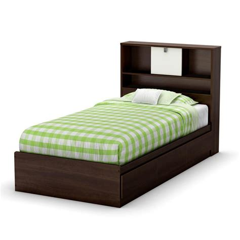 home depot bed south shore cookie twin mates bed mocha the home depot