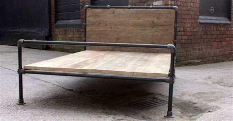 Scaffolding Bed Frame Steel Pipe And Reclaimed Industrial Scaffolding Board Bed Frame Its