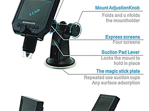 Portable Rechargeable Lcd Digital Microscope 600x Hd 3 6mp Micro Sd 600x portable digital microscope with lcd display