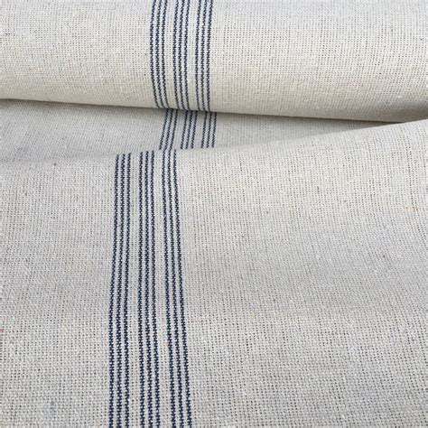 grain sack upholstery fabric grain sack fabric blue stripe vintage inspired by