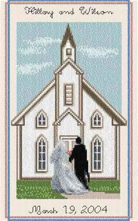 wedding chapel cross stitch pattern wedding