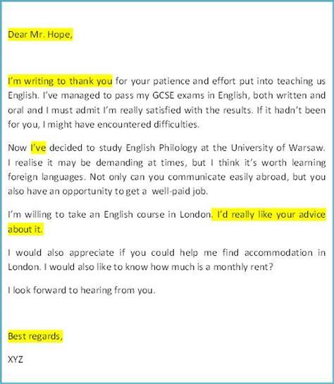 Complaint Letter Zwroty 4 Matura Wypowied綺 Pisemna List Do Nauczyciela
